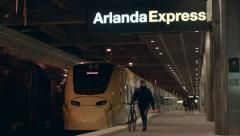 arlanda express train - stock footage