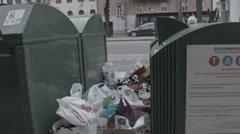 Garbage everywhere Stock Footage