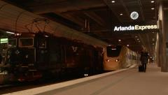 Arlanda express train Stock Footage