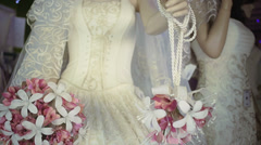 Bride gown Stock Footage