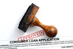 Loan application - approved Stock Photos