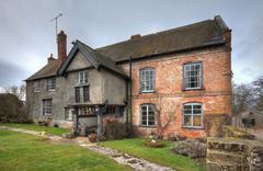 farmhouse, shropshire - stock photo