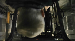 Point of view shot of a forklift being driven around - stock footage