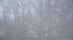 Snow Falling In Super Slow Motion Stock Footage