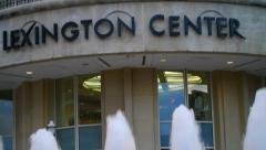 Fountains Near Lexington Center Stock Footage