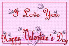 Greeting card for valentine's day Stock Illustration