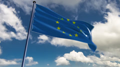 EU Flag, HQ animated on an epic background Stock Footage