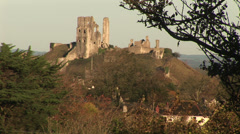 English castle on a hill Stock Footage