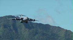 C-17 Globemaster Landing Stock Footage