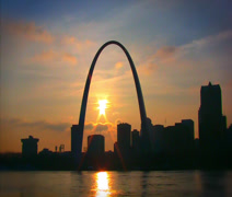 Saint Louis Skyline Timelapse Stock Footage