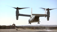 Stock Video Footage of V22 Mv22 Osprey tilt rotor helicopter takes off