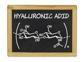 Stock Photo of chemical formula of hyaluronic acid