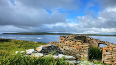 A timelapse of the Bay Of Skaill, Orkney, Scotland Stock Footage