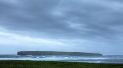 A timelapse of the Island of Birsay in Orkney, Scotland Stock Footage