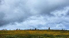 Timelapse of the Ring of Brodgar, Orkney. Stock Footage