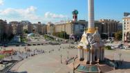 Stock Video Footage of 4K Timelapse: Independence square (Maidan Nezalezhnosti) in Kiev, Ukraine