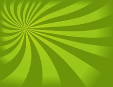 Green swirly background - stock illustration