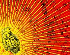 Grunge background with grenade Stock Illustration