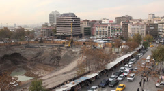 Construction site in Ankara, Turkey's fast changing capital city Stock Footage