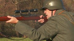 WW2 - German Soldier 2 - 04 - stock footage