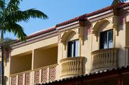 Stock Photo of yellow floridian architecture