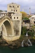 stari most, mostar, bosnia and hercegovina, balkans - stock photo