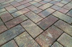 criss cross brick sidewalk - stock photo