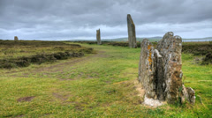 A Timelapse of the Ring of Brodgar, Orkney. Stock Footage