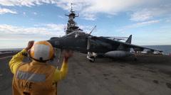 AV-8B Harrier Take off and Landing Stock Footage