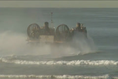 Amphibious landing for Exercise Steel Knight Stock Footage