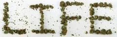 Life Spelled With Marijuana - stock photo