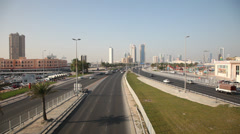 City highway in Manama, Bahrain Stock Footage