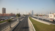 Stock Video Footage of City highway in Manama, Bahrain