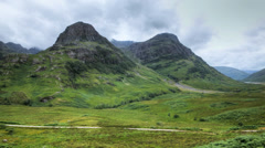 A timelapse of Glen Coe (Glencoe), Scotland Stock Footage