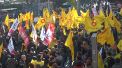 Ankara, Turkey, protesting against government education system Stock Footage