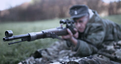 WW2 - German Soldier 2 - 52 Stock Footage