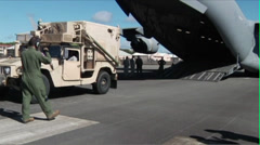 Loading a C-17 Globemaster Stock Footage