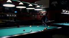 Pool Hall Stock Footage