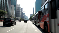 Paulista Avenue, Sao Paulo Stock Footage