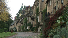 Small street in Cotswolds England - stock footage