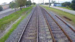 Flying over tracks 2 Stock Footage