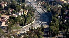 Stock Video Footage of los angeles 101 freeway