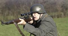 WW2 - German Soldier 2 - 58 Stock Footage