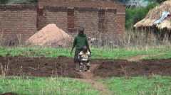Young children in African villages, Arusha, Tanzania, Africa Stock Footage