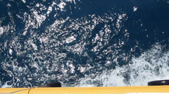 Sea from ship Stock Footage