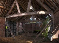 Barn interior, england Stock Photos