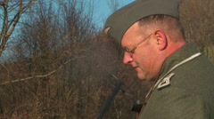 WW2-GermanSoldier3-04 Stock Footage
