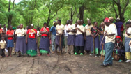 Stock Video Footage of Masai man shooting with traditional bow, Tanzania