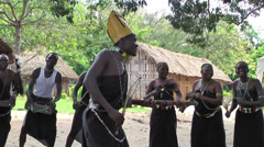 Masai tribe with national dances ang songs performing in village, Rwanda - stock footage