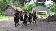Masai tribe people with national dances ang songs, Rwanda Stock Footage